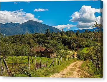 Countryside In Boyaca Colombia Canvas Print by Jess Kraft