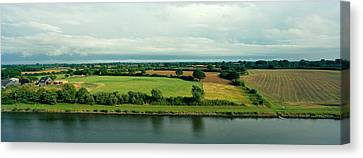 Countryside, Kiel Canal, Kiel Canvas Print