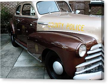 Police Art Canvas Print - County Police by John Rizzuto