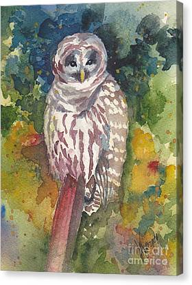 Coupeville Barred Owl Canvas Print