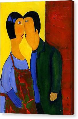 Couple Canvas Print by Agnes Trachet