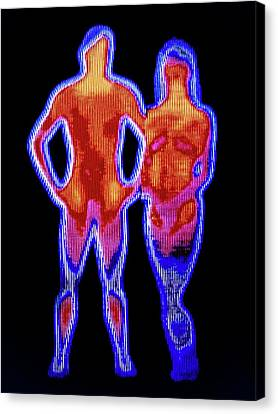 Couple Canvas Print by Alfred Pasieka