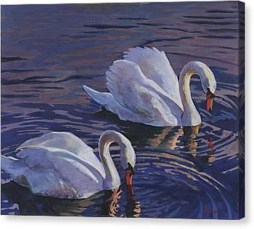 Couple Canvas Print by David Randall