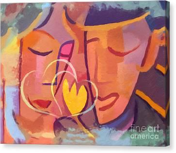 Couple In Love Canvas Print by Lutz Baar