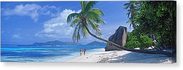 Couple Walking On The Beach, Anse Canvas Print