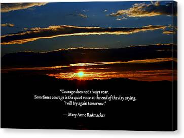 Courage Canvas Print by Cathy Shiflett