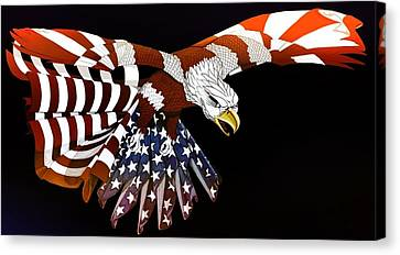 Courage Canvas Print by Charles Drummond