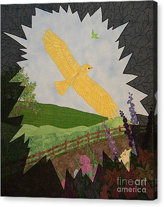 Courage Is The Bird That Soars Canvas Print by Denise Hoag