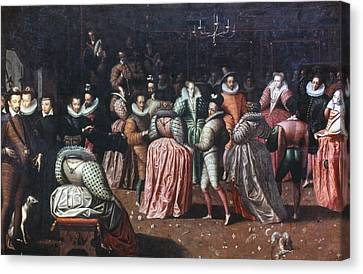 Ball Gown Canvas Print - Court Ball, 16th Century by Granger