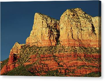 Court House Canvas Print - Court House Butte At Sunset by Michel Hersen