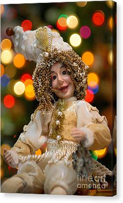 Victorian Canvas Print - Court Jester With Christmas Lights by Amy Cicconi