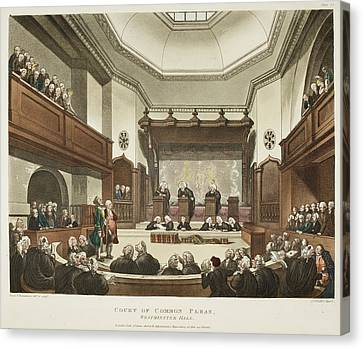 Court House Canvas Print - Court Of Common Pleas by British Library