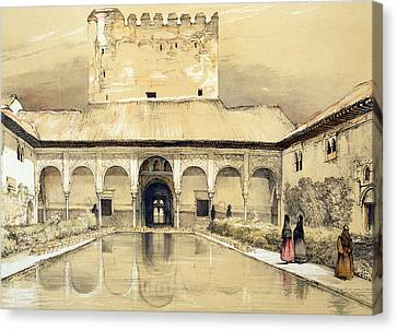 Court Of The Myrtles And The Tower Canvas Print by John Frederick Lewis