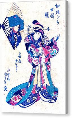 Courtesan Ogiya Yugiri 1830 Canvas Print by Padre Art