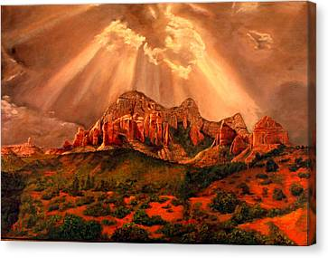 Courthouse Butte Canvas Print by Rick Fitzsimons