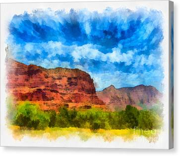 Courthouse Butte Sedona Arizona Canvas Print by Amy Cicconi