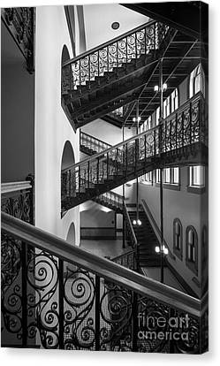 Dallas Canvas Print - Courthouse Staircases by Inge Johnsson