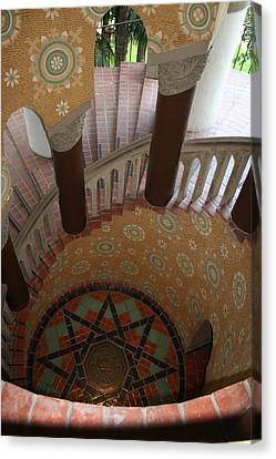 Stairway Courthouse Santa Barbara Canvas Print by Christiane Schulze Art And Photography
