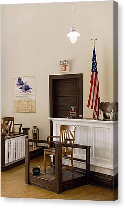 Courtroom Of The Old Monroe County Canvas Print