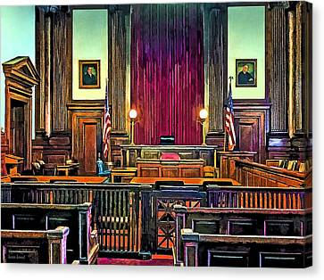 Courtroom Canvas Print by Susan Savad