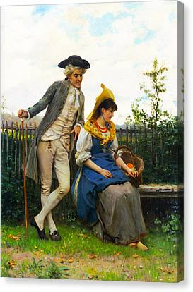 Courtship Canvas Print by Federico Andreotti