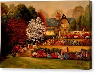 Courtyard Dawning Canvas Print