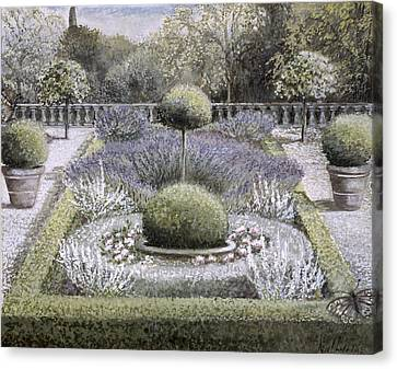 Courtyard Garden Canvas Print by Ariel Luke