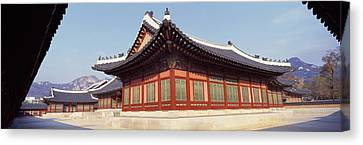 Courtyard Of A Palace, Kyongbok Palace Canvas Print by Panoramic Images