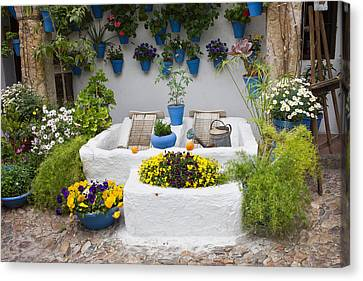 Courtyard With Washing Boards Canvas Print by Artur Bogacki