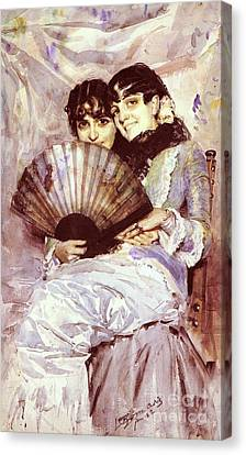 Cousins Canvas Print by Pg Reproductions