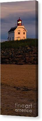 Cousin's Shore Lighthouse Pei Canvas Print by Edward Fielding