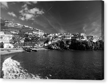 Cove In Black And White Canvas Print