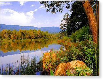 Cove Lake State Park  Canvas Print by Frozen in Time Fine Art Photography