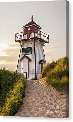 Covehead Harbour Lighthouse Canvas Print by Elena Elisseeva