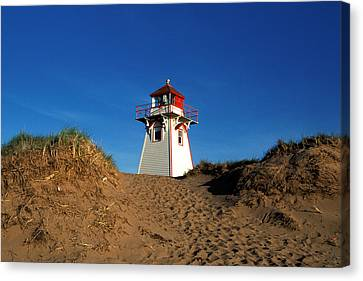 Covehead Lighthouse Canvas Print by John Jacquemain