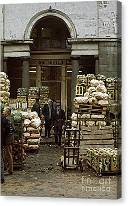 Covent Garden Market London 1973 Canvas Print by David Davies