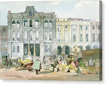 Covent Garden Market Wc On Paper Canvas Print by English School