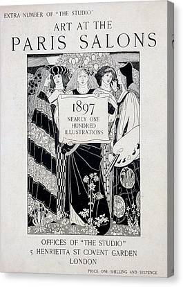 Magazine Art Canvas Print - Cover For Art At The Paris Salons by English School