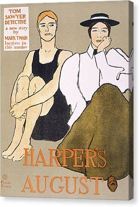 Cover Of Harpers Magazine, 1896 Canvas Print