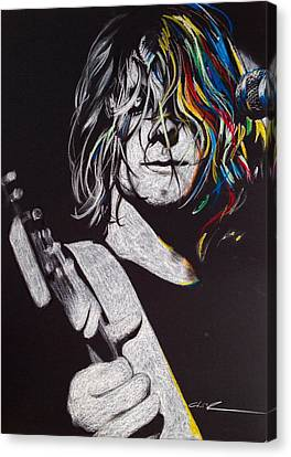 Kurt Cobain - ' Cover The Hair In Your Eyes ' Canvas Print
