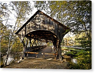 Covered Bridge Canvas Print by Bill Howard