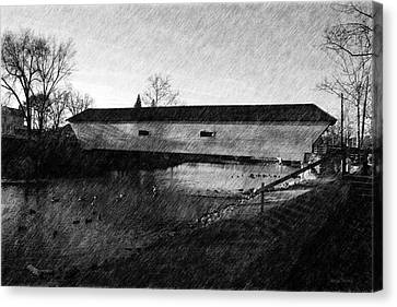 Covered Bridge Elizabethton Tennessee C. 1882 Canvas Print by Denise Beverly