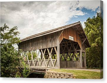Canvas Print featuring the photograph Covered Bridge In Nebraska by Dawn Romine