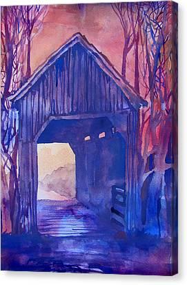 Covered Bridge Canvas Print by James Huntley