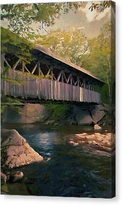 Covered Bridge Canvas Print by Jeff Kolker