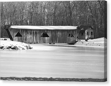 Covered Bridge Canvas Print by Jennifer  King