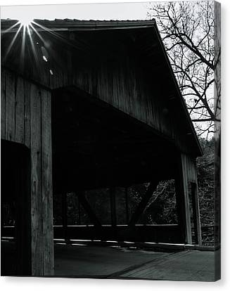 Canvas Print featuring the photograph Covered Bridge by Haren Images- Kriss Haren