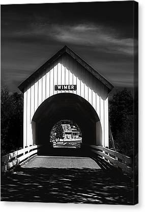 Covered Bridge Canvas Print by Melanie Lankford Photography
