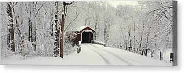 Country Lanes Canvas Print - Covered Bridge Pa by Panoramic Images
