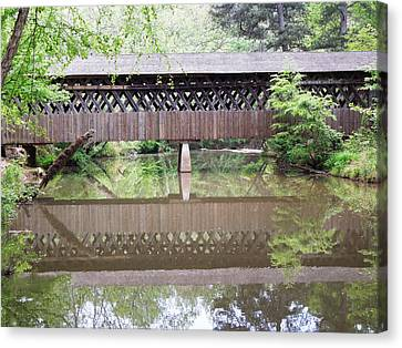 Covered Bridge Canvas Print by Pete Trenholm